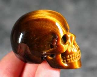 Sample Gold Tiger Eye Carved Crystal Skull/Head,Crystal Healing