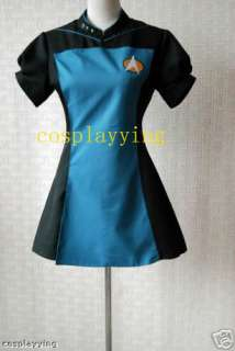Star Trek TNG Blue Skant Uniform Costume Custom made