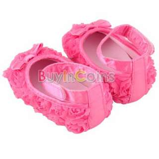 New Boutique Lovely Baby infant toddler Girls Soft Crib Shoes Bow