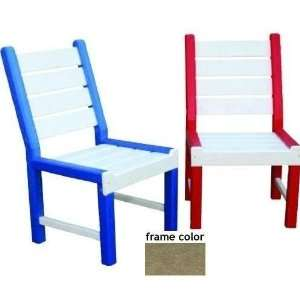 One Recycled Plastic Kids Chair   Driftwood Patio, Lawn & Garden