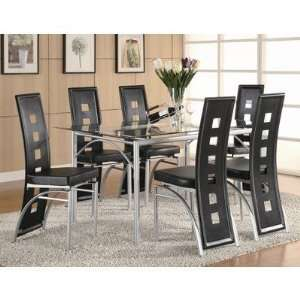 North Berwick 7 Piece Dining Table Set with Black Chairs