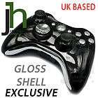 CUSTOM XBOX 360 BLACK AND & CHROME SILVER WIRELESS CONTROLLER SHELL
