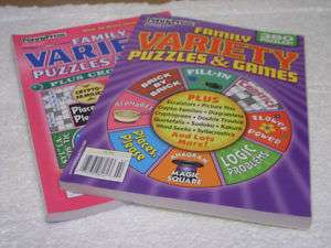 FAMILY VARIETY PUZZLES & GAMES SET 2 NEW PUZZLE BOOKS