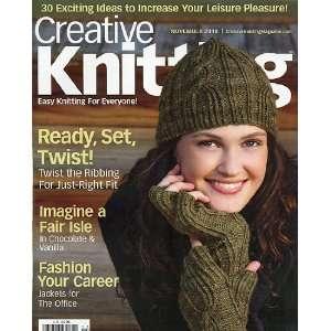 Creative Knitting November 2010 Arts, Crafts & Sewing