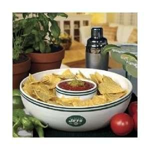 com New York Jets Memory Company Team Chip and Dip Bowl NFL Football