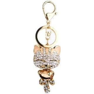 Rhinestone Handbag Purse Charm / Keychain Key Ring Holder Clothing