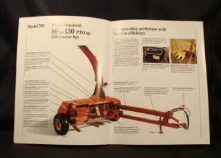 Ford New Holland 718 790 900 Forage Harvesters Brochure