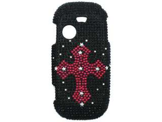 CROSS BLK DIAMOND CRYSTAL BLING CASE COVER SAMSUNG T369