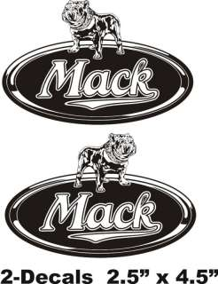 MACK TRUCK Logo Vinyl Decal Window Sticker Set Of 2