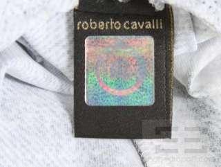 Just Cavalli Blue Denim & Zebra Print Jersey Knit Sleeveless Dress