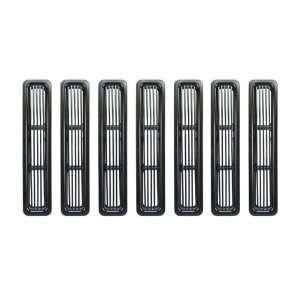 11401.03 Grille Insert Kit Black Powder Coat Aluminum Automotive