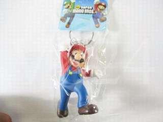 Super Mario Bros Lanyard Key Chain Keychain 8pcs SM0404