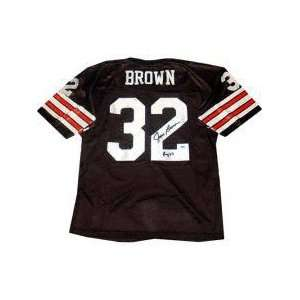 Jim Brown Pro Style Throwback Jersey with ROY Inscription