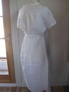 DRESS WHITE LINEN SHORT SLEEVE NEW MATERNITY? 44/10