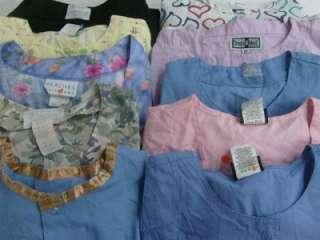 Medical Dental Vet Scrub Lot 10 Long Sleeve Jackets Coats Medium Med M