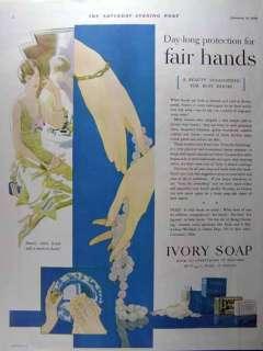 1929 P&G IVORY SOAP ART DECO VINTAGE PRINT AD