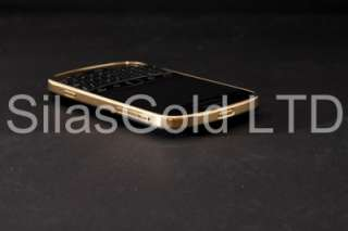 BlackBerry Bold 9900 Black Unlocked Gold Plated Mirror Finish