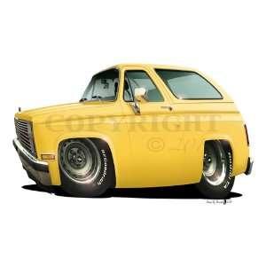 24 DB 1979 Chevy Blazer Classic Cartoon Car Art Wall