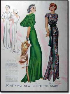 1935 ART DECO FASHION PRINTS DES VIGNES & ROTHSCHILD