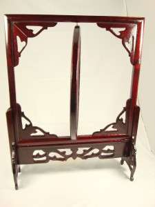 Vintage Tiger Needle Embroidery Cherry wood Frame stand