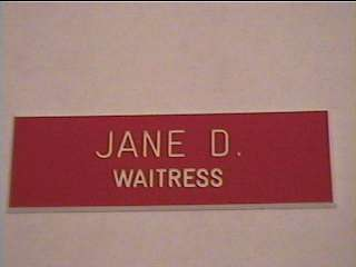 Employee Personalized NAME TAG BADGE 1x3 PIN OR MAGNET