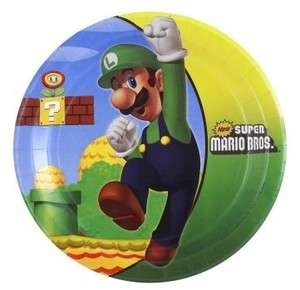 Mario Bros. Party Supplies   Dessert Plates 8ct