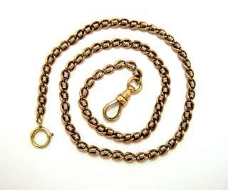 Watch Chain/Necklace Platinum & 14Kt Pink Gold Vintage