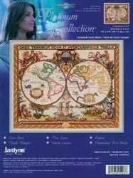 JANLYNN OLDE WORLD MAP COUNTED CROSS STITCH KIT 18X15