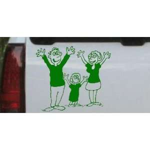 Stick Family Car Window Wall Laptop Decal Sticker    Dark Green 26in X