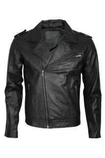 Mens Modern Brando Motorcycle Designer Leather Jacket