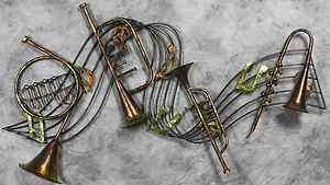 INSTRUMENTS & MUSIC NOTES DECORATIVE METAL WALL ART