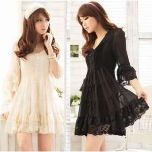 J112 WOMENS ONE PIECE DRESS BLACK BEIGE CHIFFON BIG NWT