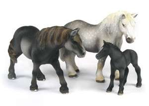 SCHLEICH Percheron Horse Set of 3   13623 13626 13627