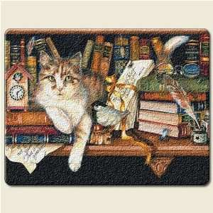 KITTY Cat KITTEN feline bookstore library large 15 inch TEMPERED GLASS