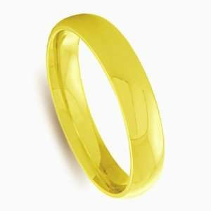 4mm 10k Yellow Gold Comfort Fit Wedding Band Ring Size 5 Jewelry