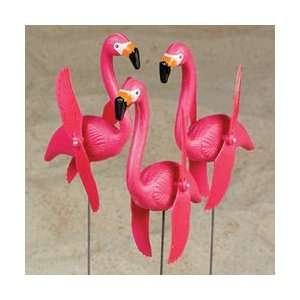 Pink Flamingo Twirling Yard Stakes