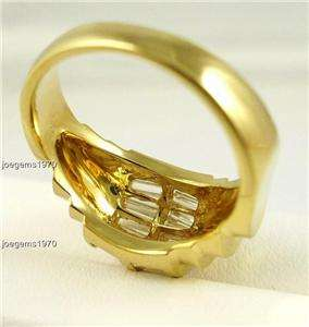 Hand Crafted 2ct Diamonds 18k Gold Ring 10mm wide Band vintage