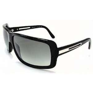 Prada Spr14i Shiny Black / Gray Gradient Sunglasses