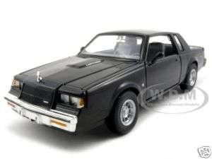 1987 BUICK REGAL BLACK 124 DIECAST MODEL CAR MOTORMAX