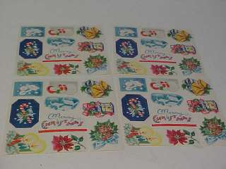 40 Old Christmas Gift Wrap Paper Lick Seals