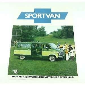 1976 76 Chevrolet Chevy SPORTVAN Van BROCHURE G10 G30