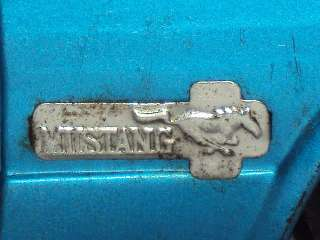 Vintage Battery Oprated Yonezawa FORD MUSTANG Convertible Tinplate Toy