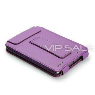 TOUCH FLIP PURPLE LEATHER COVER CASE WITH COMPACT READING LIGHT