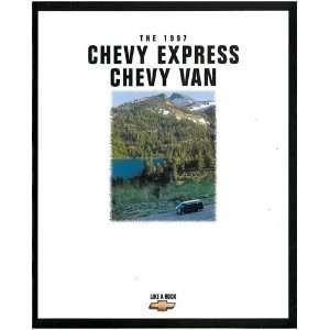 1997 Chevrolet Chevy Express Van Sales Brochure