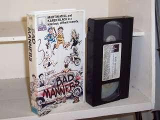 Bad Manners (1984) vhs Martin Mull, Karen Black