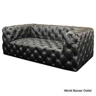 Tribeca Tufted 2 Seater Leather Sofa Old Saddle L4 OSB