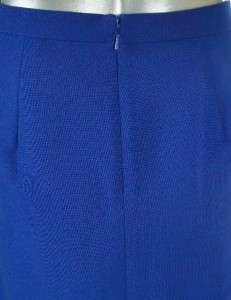 Sutton Studio Womens Red Blue Black Wool Blend Double Crepe Knee