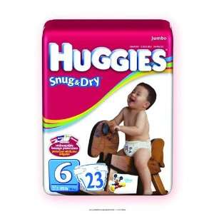 Huggies Snug & Dry Disposable Diapers, Huggies Snug N Dry Disp Sz6, (1