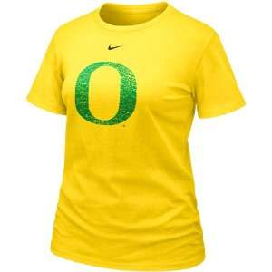 Nike Oregon Ducks Ladies Yellow Frackle Blended T shirt: