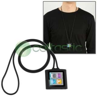Silicone Gel Case Skin Cover+Lanyard Holder For iPod Nano 6